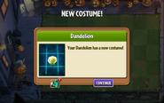Dandelion Costume on Lawn of Doom