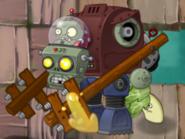 Headbutter Lettuce attacking Gargantuar Prime