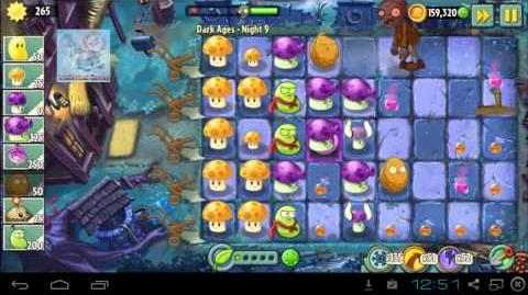 Dark Ages Night 9 Zombies Boost - Plants vs Zombies 2 update Map 5