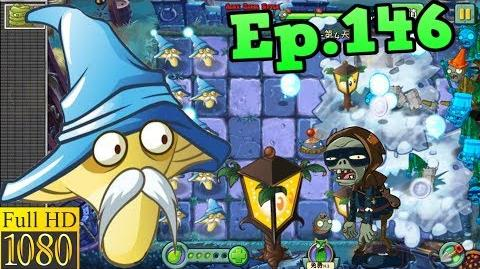 Plants vs. Zombies 2 (China) - Freeze Mushroom and Plantern - Dark Ages Night 4 (Ep