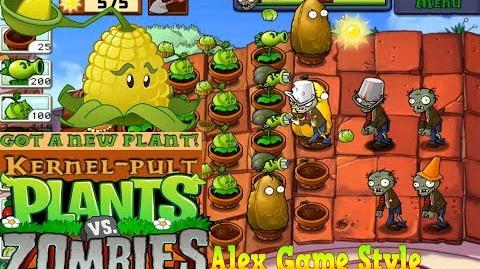 Plants vs. Zombies Adventure Got a Kernel-pult level 5-2 Roof (Android Gameplay HD) Ep