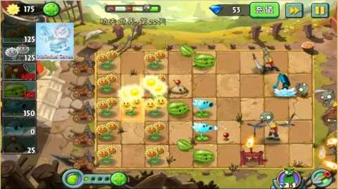 Kungfu Map Day 22 Plants vs Zombies 2 Chinese