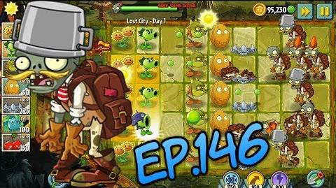 Plants vs. Zombies 2 New Basic Adventurer Zombies Lost City Day 1 (Ep