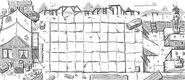 Ancient egypt lawn concept