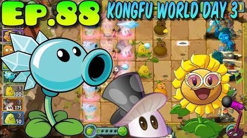 Plants vs. Zombies 2 (China) Magic Mushroom 2 level, New Costumes - Kung-Fu World Day 3 (Ep