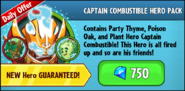 Captain Combustible Hero Pack