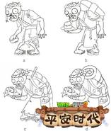Sushi Chef Zombie Concept Designs