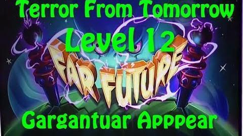 Terror From Tomorrow Level 12 Gargantuar Apppear Plants vs Zombies 2 Endless