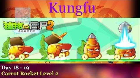Far Future Day 18 to 19 Carrot Rocket Level 2 Plants vs Zombies 2 Chinese Kungfu