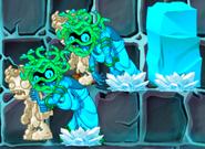 Frozen Zombie Medusa with Stone