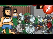 Hobo vs Zombies - For fans PvZ and Hobo - Crazy Flash Game