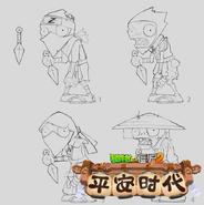 Samurai Zombie Concept Designs