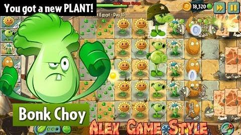 Plants vs. Zombies 2 Got a New Plant Bonk Choy Ancient Egypt Day 13 (Ep