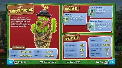 Bandit Cactus (In-Game) 17 Plants vs Zombies Garden Warfare