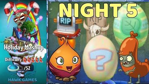 Holiday Mashup World 😎 - Plants vs Zombies 2 🌻 - Night 5 Easy (Egg Breaker)