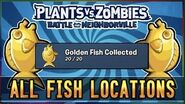 Plants vs Zombies Battle For Neighborville All Golden Fish Locations! Best Fishing Friend Guide!