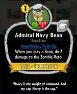 Admiral Navy Bean description