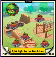 A Fight to the Finish Line Locked Map