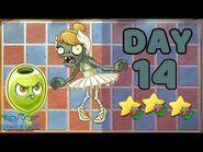 Plants vs Zombies 2 China- Renaissance Age Day & Night 14 -Ballerina & Oil Olive- 《植物大战僵尸2》-复兴时代 14天