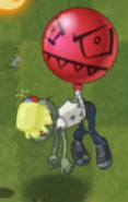 Zombi con globo enmantequillado