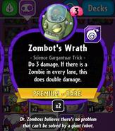 Zombot Wrath new statistics
