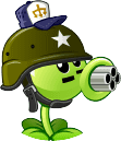Gatling Pea with it's costume Round Icon