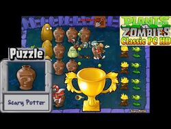 Plants vs. Zombies - Scary Potter Puzzle - Classic PC HD (Ep