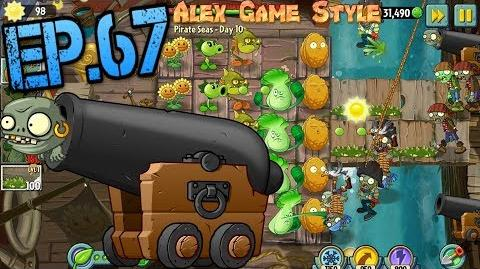 Plants vs. Zombies 2 New Zombie Imp Cannon Pirate Seas Day 10 (Ep