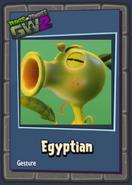 Egyptian peashooter gesture sticker
