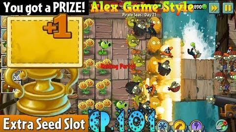 Plants vs. Zombies 2 Prize Extra Seed Slot - Pirate Seas Day 21 (Ep
