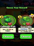 Choice between Cabbage-Pult and Guacodile