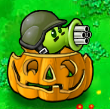 Gatling pea pumpkin