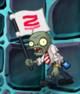 ZCorp Flag Zombie In-game
