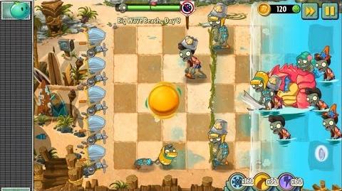 Plants vs Zombies 2 - Hidden Giant Bowling Ball in Big Wave Beach Day 8