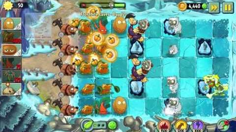 """Plants vs Zombies 2 Frostbite Caves - Day 12 of """"The Beginning's trip to get the World Key"""""""