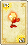 Fire Peashooter Card