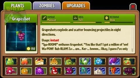 Plants vs Zombies 2 - Grapeshot in Almanac