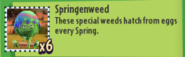 Springenweed Description