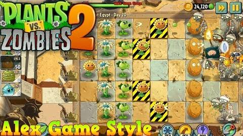 Plants vs. Zombies 2 Survive and protect plant Ancient Egypt Day 20 (Ep