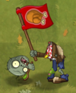 Dead Food Fight Flag Zombie
