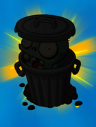 Trash Can Zombie silhouette