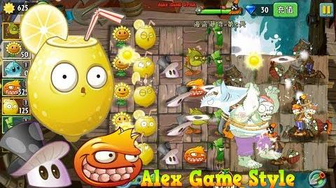 Plants vs. Zombies 2 (Chinese) New Acid Lemon, Magic Mushroom, Pomegranate Machine Gun (Ep