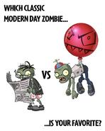 Balloon Zombie vs. Newspaper Zombie
