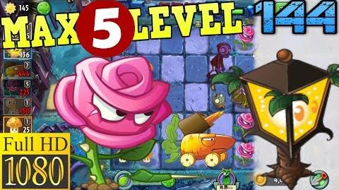 Plants vs. Zombies 2 (China) - Rose Swordsman MAX 5 level - Dark Ages Night 2 (Ep