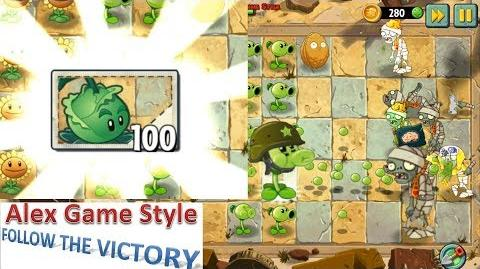 Plants vs. Zombies 2 Unlocked Cabbage-pult Ancient Egypt Day 2 (Ep