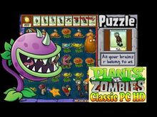Plants vs. Zombies All your brainz r belong to us Puzzle Classic PC HD (Ep
