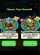 Choice between Loudmouth and Squirrel Herder