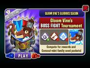 Gloom Vine's Glorious Season - Gloom Vine's BOSS FIGHT Tournament