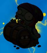 Barrel Roller Zombie silhouette