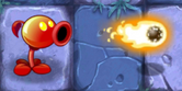 Fire Peashooter Shooting